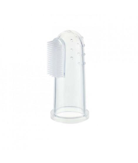 KIDSME Doigtier-brosse a dents en silicone