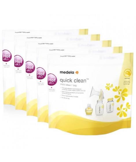 MEDELA Lot de 5 Sachets Quick Clean™ - Pour micro-ondes