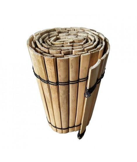 JANY FRANCE Bordure souple en lattes verticales de bambou - 200 x 30 cm