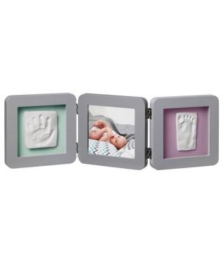 BABY ART Cadre empreinte My Baby Touch - Bébé mixte - Gris - 3 volets