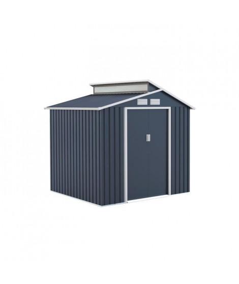 Abri de jardin en acier 4,25 m² - Avec kit d'ancrage inclus - Gris anthracite