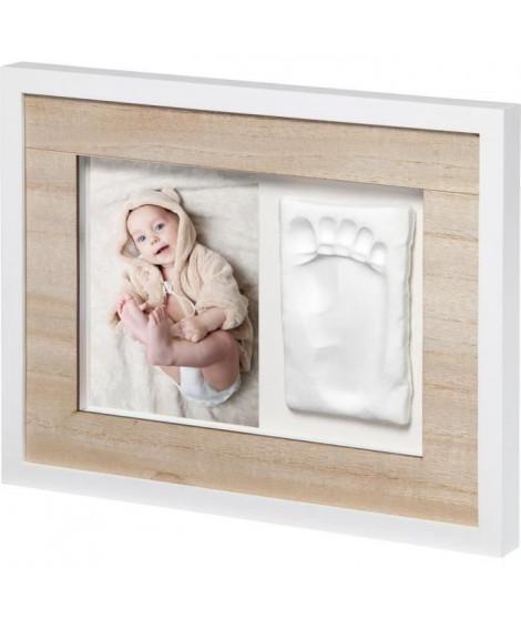 TINY STYLE Cadre personnalisable empreinte bébé - Bois et Blanc