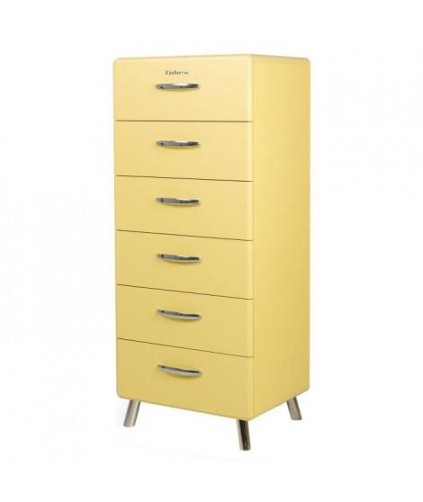 COBRA Chiffonnier style contemporain mélaminé et laqué jaune pastel - L 56 cm