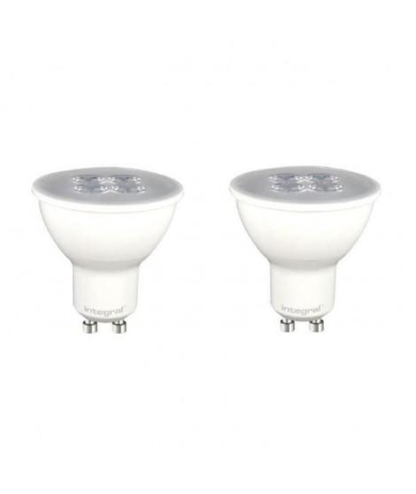 INTEGRAL LED Lot de 2 ampoules spot GU10 5,3 W équivalent a 50 W 3000 K 370 lm