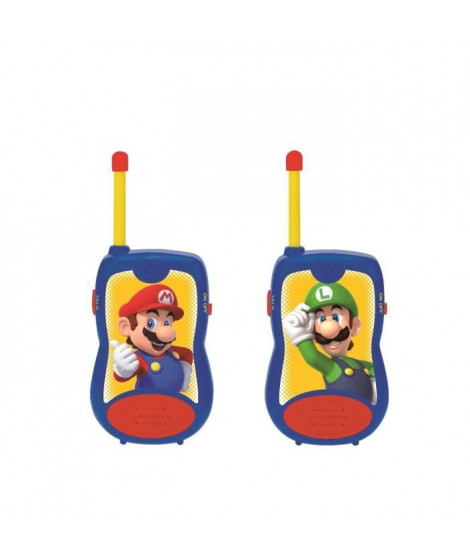 SUPER MARIO Talkie-walkies enfant 120 metres de portée - LEXIBOOK