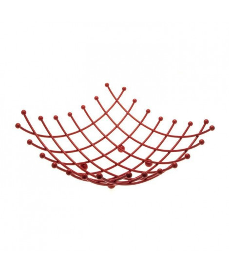 FRANDIS Corbeille a fruits carrée Métal - Rouge