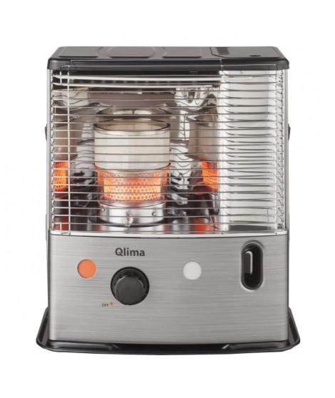 QLIMA R8224SC 2400 watts Poele a pétrole a meche - Double combustion - Détecteur CO2 et arret si basculement - NF