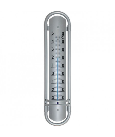 JANY FRANCE Thermometre aluminium - H 38 cm - Gris