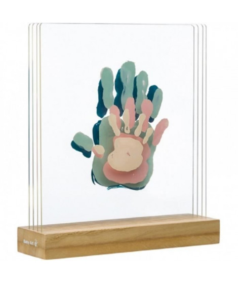 FAMILY PRINTS Cadre 4 empreintes superposées, support bois - Baby Art