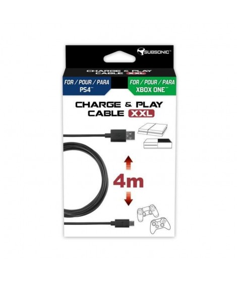 Subsonic Cable de charge pour manette PS4 et Xbox One