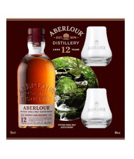 Aberlour 12 ans Double Cask Matured - Highland Single Malt Scotch Whisky - 40%vol - 70cl - Coffret avec 2 verres