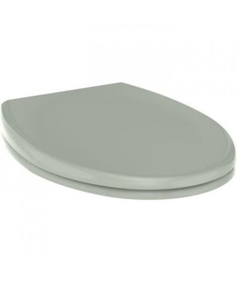 ALLIBERT Abattant de toilette a fermeture silencieuse Boreo - Vert de gris brillant
