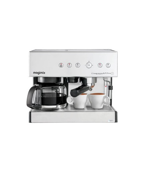 CAFETIERE COMBINE EXPRESSO 201 0W 19BARS VERSEUSE 10T INOX