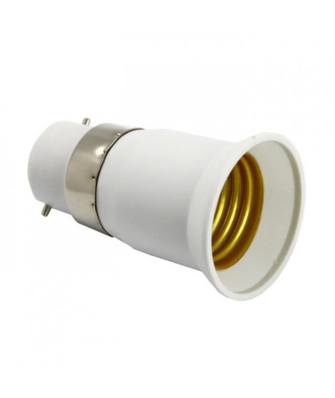 ZENITECH Transformateur/adaptateur de douille mâle B22 femelle E27