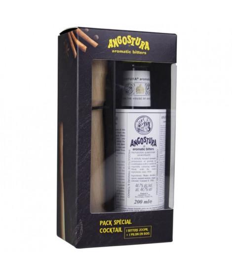 Coffret Angostura Bitter + Pilon - Aromatic Bitter cocktails - Trinidad & Tobago - 44,7%vol - 20cl