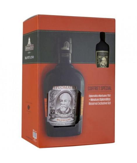 Coffret rhum Diplomatico Mantuano + Mignonette - Rhum vieux - Venezuela - 35%vol - 70cl