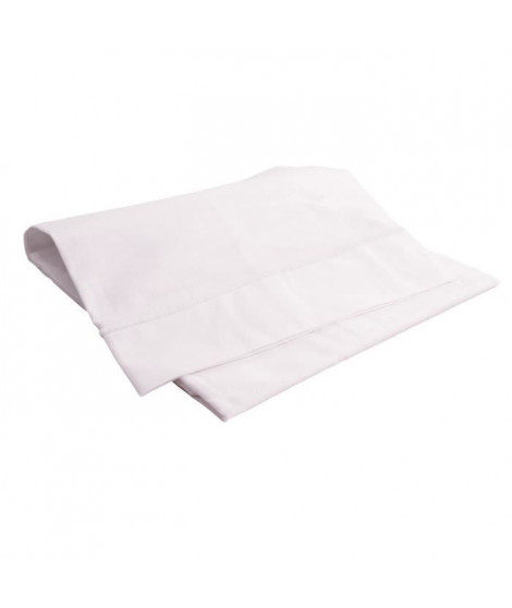 DOUX NID Drap plat - Blanc - 80x110 cm