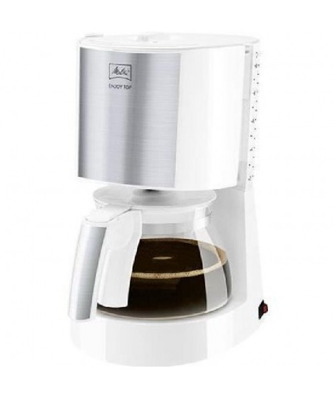 Cafetiere Melitta Enjoy Top Glass Blanc/Acier brossé 1017-03