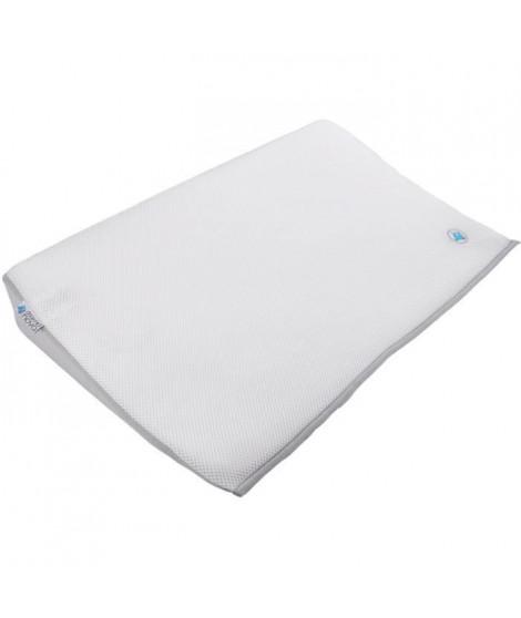 DOMIVA Plan incline 15° enveloppe maille 3D - Lit 70x140 cm - Blanc