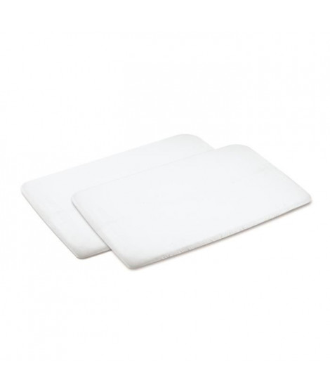MAXI-COSI Lot de 2 draps nouveau-né pour Lit/Parc Swift, Blanc