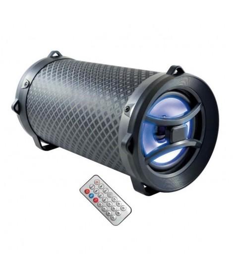 INOVALLEY HP40-BTH - Enceinte Bluetooth 2.1 lumineuse 15W - Port USB 2.0, Aux 3.5mm, Port carte SD - Ecran LED - Noir