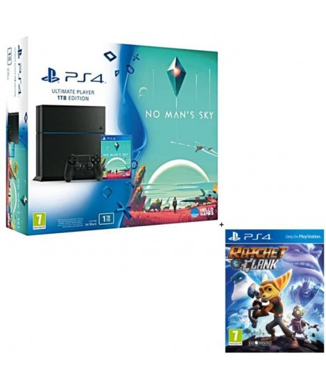 PS4 1 To + 2 Jeux : No Man's Sky + Ratchet and Clank
