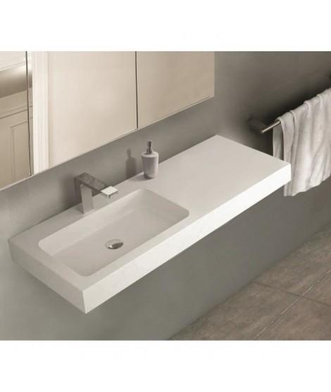 MITOLA Plan vasque rectangulaire 1 bac gauche Ibiza 120x46cm