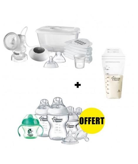TOMMEE TIPPEE Pack Tire-lait Electrique + 1 kit naissance biberons OFFERT