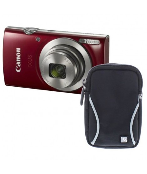 Pack CANON IXUS 175 Appareil photo numérique Compact Rouge - 20,2 mégapixels - Zoom Plus 16x + Etui