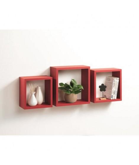 CODICO Set de 3 cubes gigognes Homeo 23-26-30 cm rouge