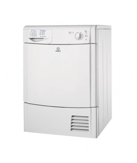 INDESIT IDC 75 B FR - Seche-linge frontal - Condensation - 7kg - B - 69dB - Blanc
