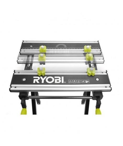 RYOBI Etabli RWB03 pliable, réglable et pivotant avec 100 kg de charge maximale