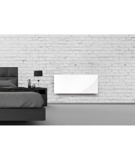 ALPINA Verre Blanc LCD 1500 watts Radiateur Panneau rayonnant - Façade en verre blanc