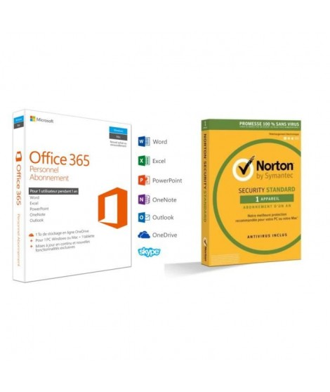 Pack Office 365 Personnel + Norton Security 2017