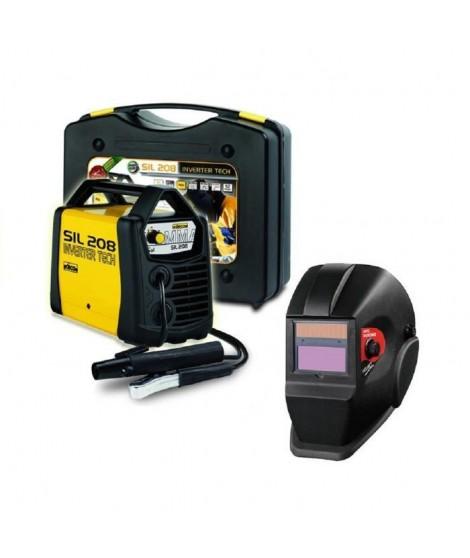 DECA Poste a souder Inverter 80 A SIL 208 avec cagoule LCD DIN11 et 20 électrodes