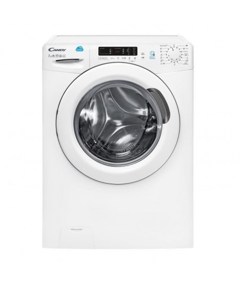 CANDY CS1072D1/1-S - Lave-linge frontal - 7kg - Essorage 1000 tours - A+ - Connecté - Blanc