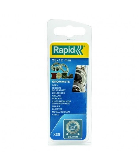 RAPID 25 oeillets de renfort 12mm