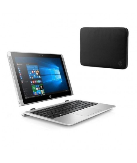"HP Convertible Touchscreen-10p015nf- 10.1""-RAM 4Go - Intel Atom x5-Z8350- Intel HD 400 - Disque dur 128 Go + Housse 10,1 Black"