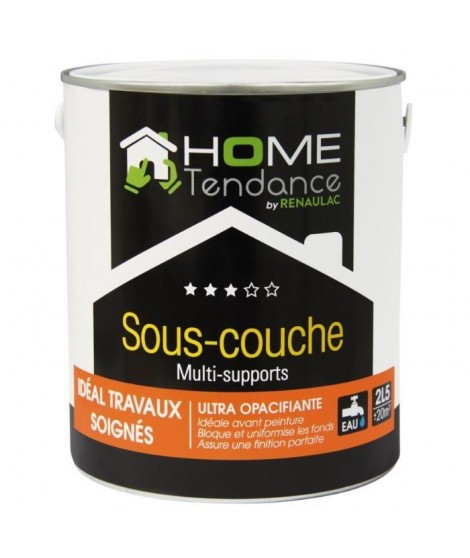 Sous-couche multi-support acrylique mat blanc 2,5L - HOME TENDANCE by Renaulac