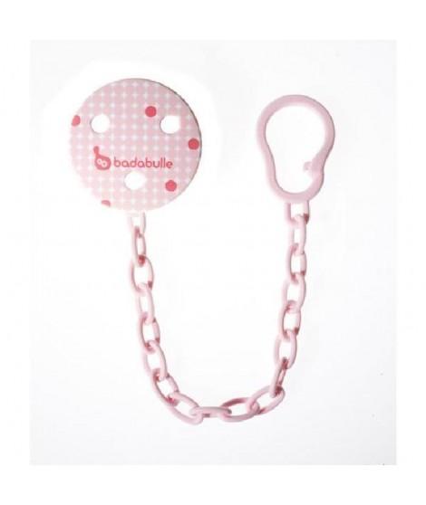 BADABULLE Attache Sucette Fille plastique  Pink dots