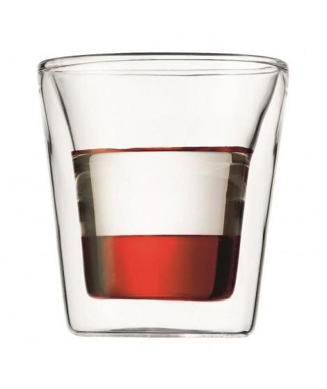 BODUM Set 6 verres double paroi CANTEEN 0.1 l Transparent