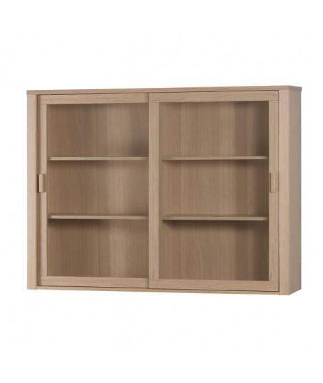 NANO Vaisselier contemporain placage bois chene verni - L 140 cm