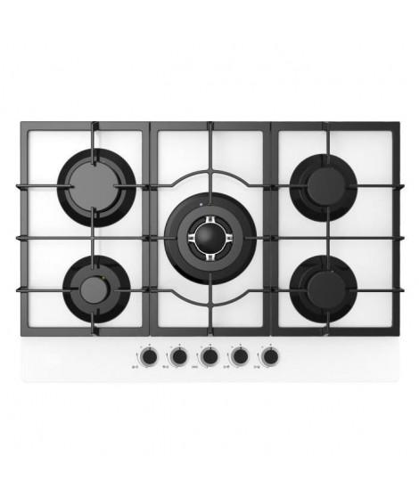 CONTINENTAL EDISON CECTG5GFVW - Table de cuisson Gaz-5 foyers-L60cm-Blanc