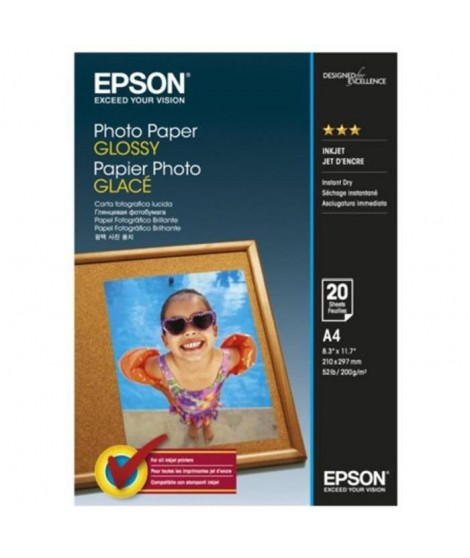 EPSON Papier photo brillant S042538 - 200g/m2 - A4 - 20 feuilles