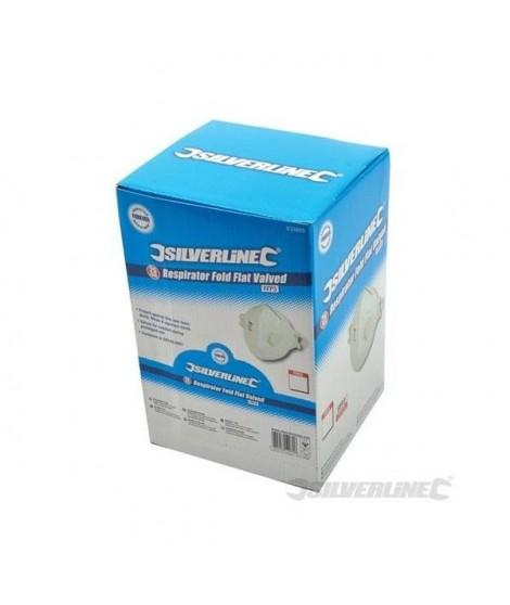 Boîte présentoir de 25 masques respiratoires pliables a valve FFP3 NR