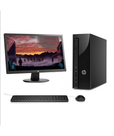 "HP PC de bureau - 260a104nf - 4Go de RAM - Windows 10 - INTEL PENTIUM J3710 - Intel HD Graphics - Disque dur 2To + Ecran 24"" …"