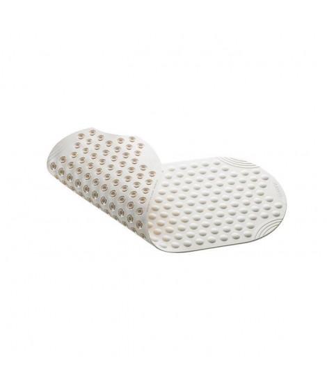 Tapis antidérapant pour baignoire Tecno-PLUS - 38x89 cm - Blanc