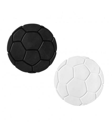 Tapis antidérapant mini pour baignoire et douche - XXS - Fußball Blanc/- Noir