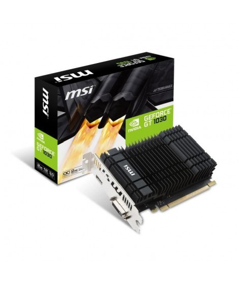 MSI Carte graphique GeForce GT 1030 2GH OC - 2 Go - GDDR5