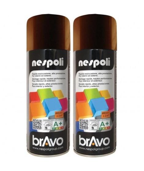NESPOLI Lot de 2 aérosols peinture brun chocolat RAL8017